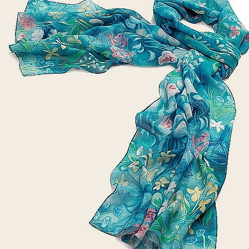 buy mille fleurs silk scarf from museum selection