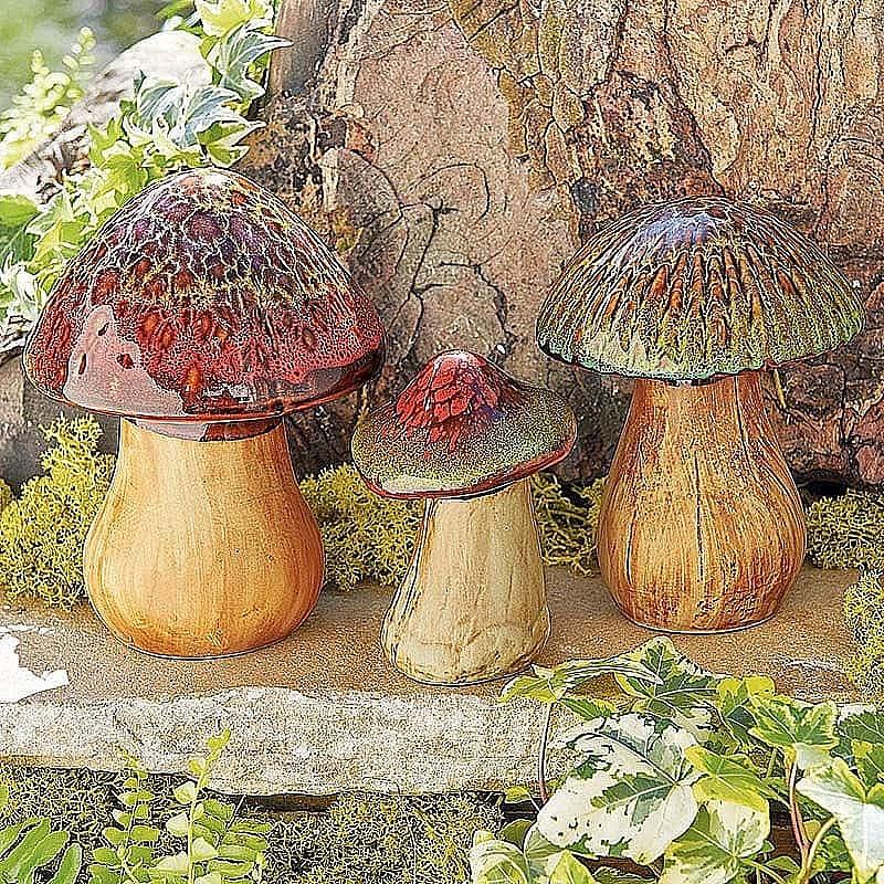 Buy Set 3 Ceramic Mushrooms From Museum Selection