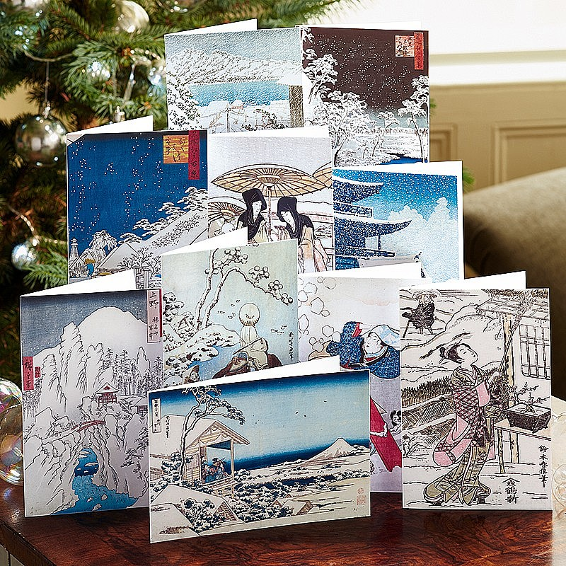 Buy Winter Woodblock Cards from Museum Selection.