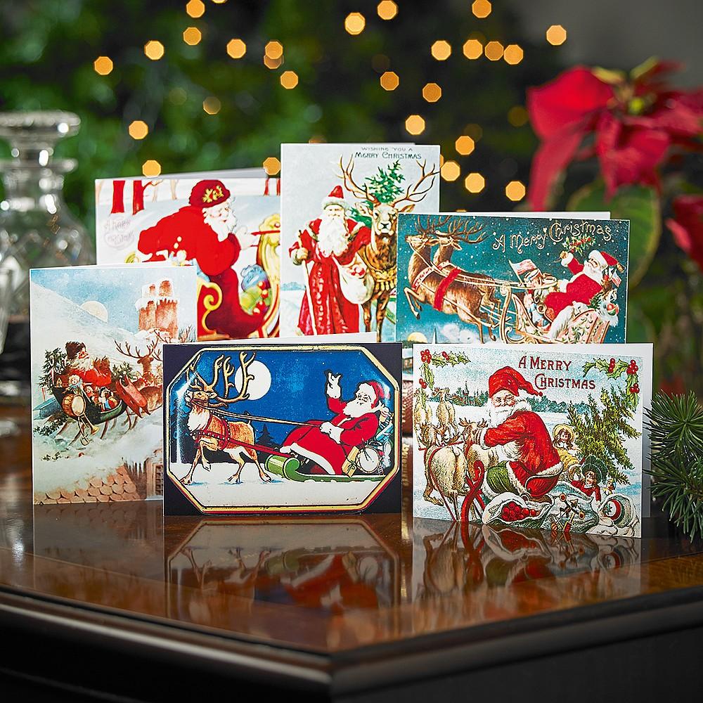 Father Christmas Sleigh Cards | Christmas Cards & Wrap | Museum ...