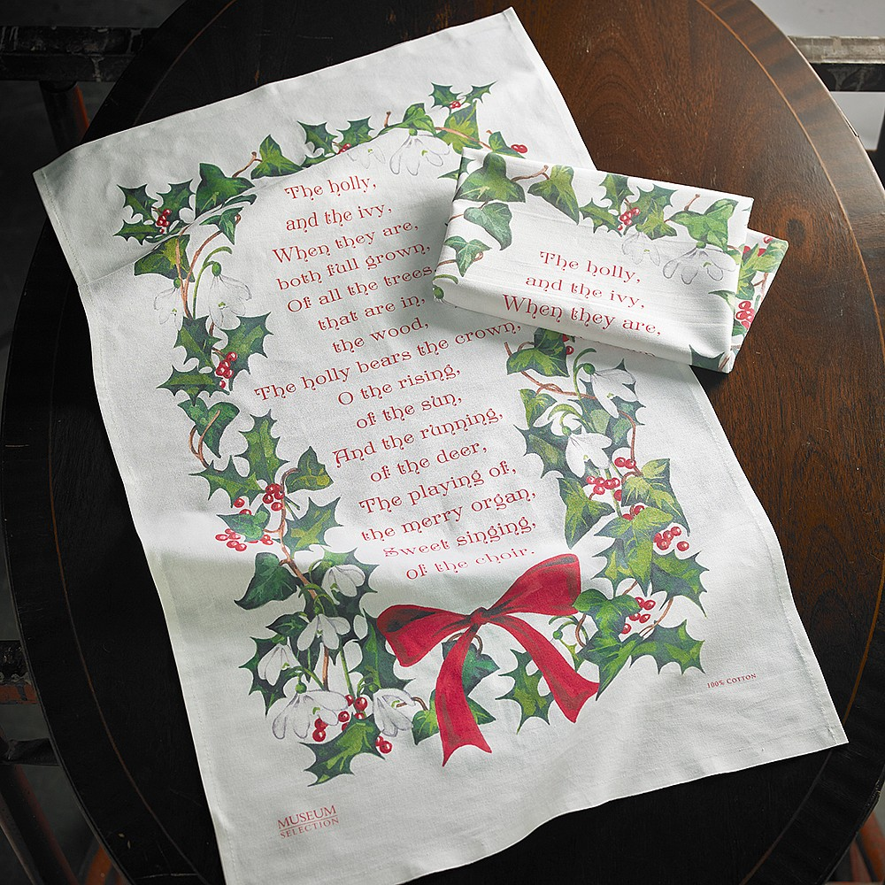Pair of Holly & Ivy Tea Towels | Kitchen | Museum Selection