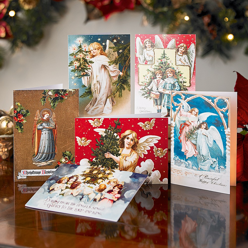 Christmas Cards Images.Victorian Angel Christmas Cards