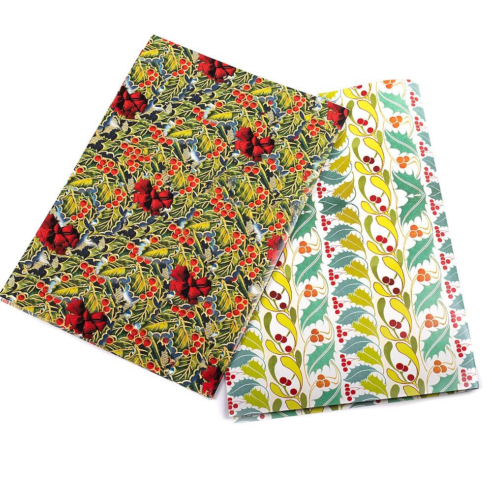 Christmas Gift Wrap Design.Christmas Evergreen Gift Wrap