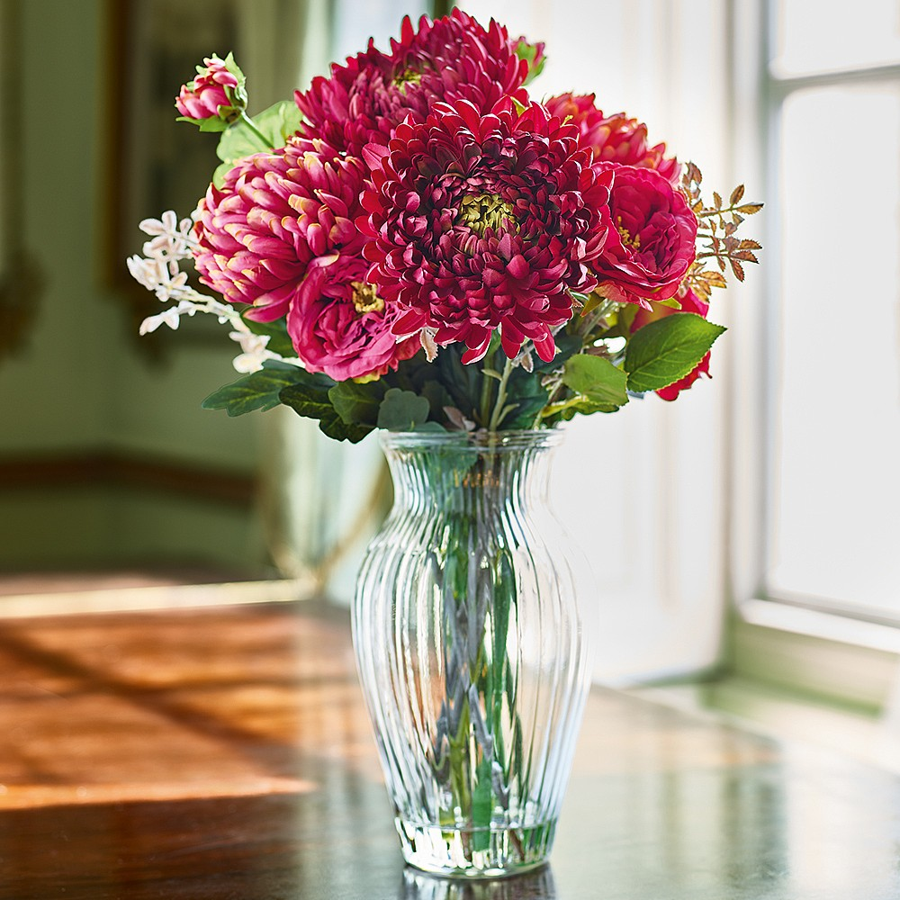 Morris Chrysanthemum Arrangement Silk Flowers Museum Selection