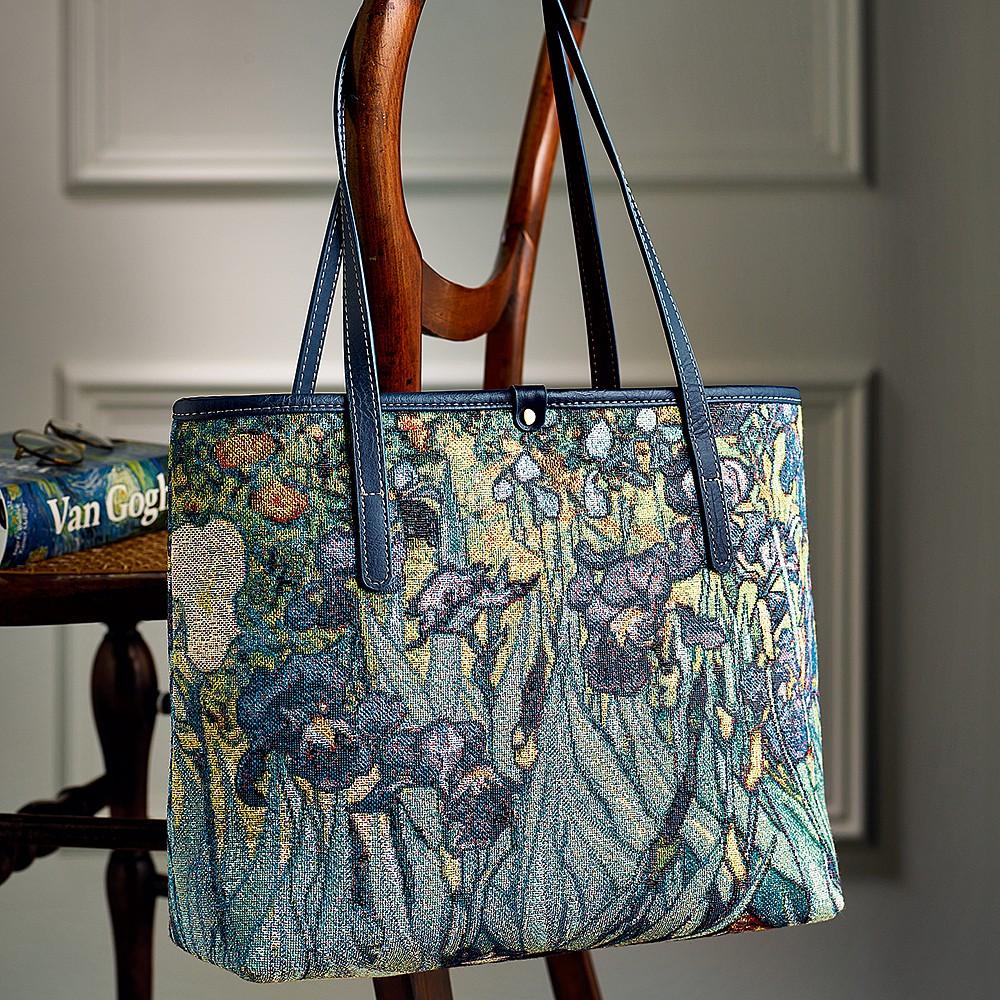 Irises Tapestry Handbag Bags Museum Selection