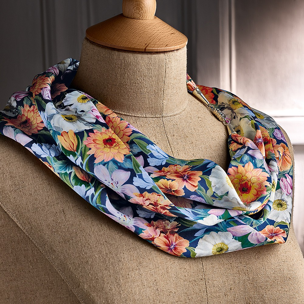 431416c33 Liberty Bouquet Silk Scarf Necklace | Scarves, Hats & Gloves ...