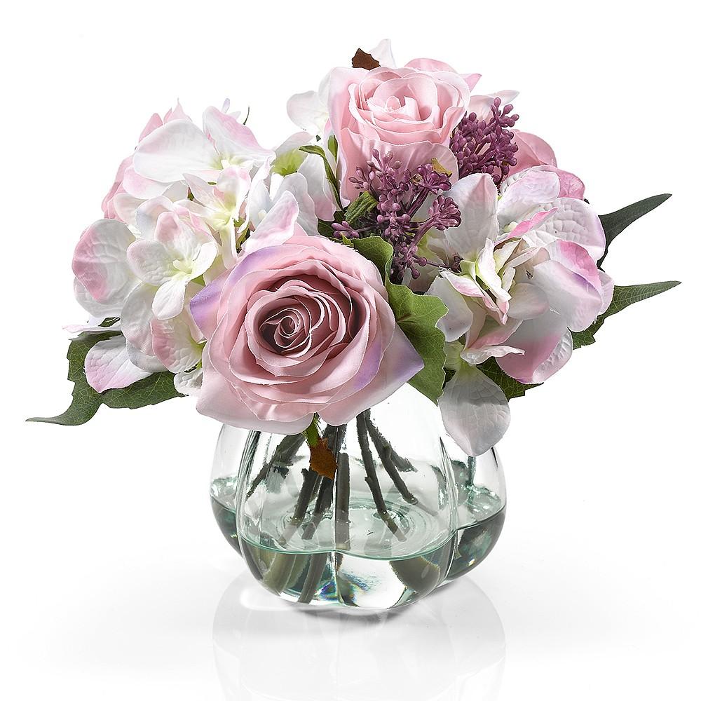 Rose Hydrangea Arrangement Silk Flowers Museum Selection