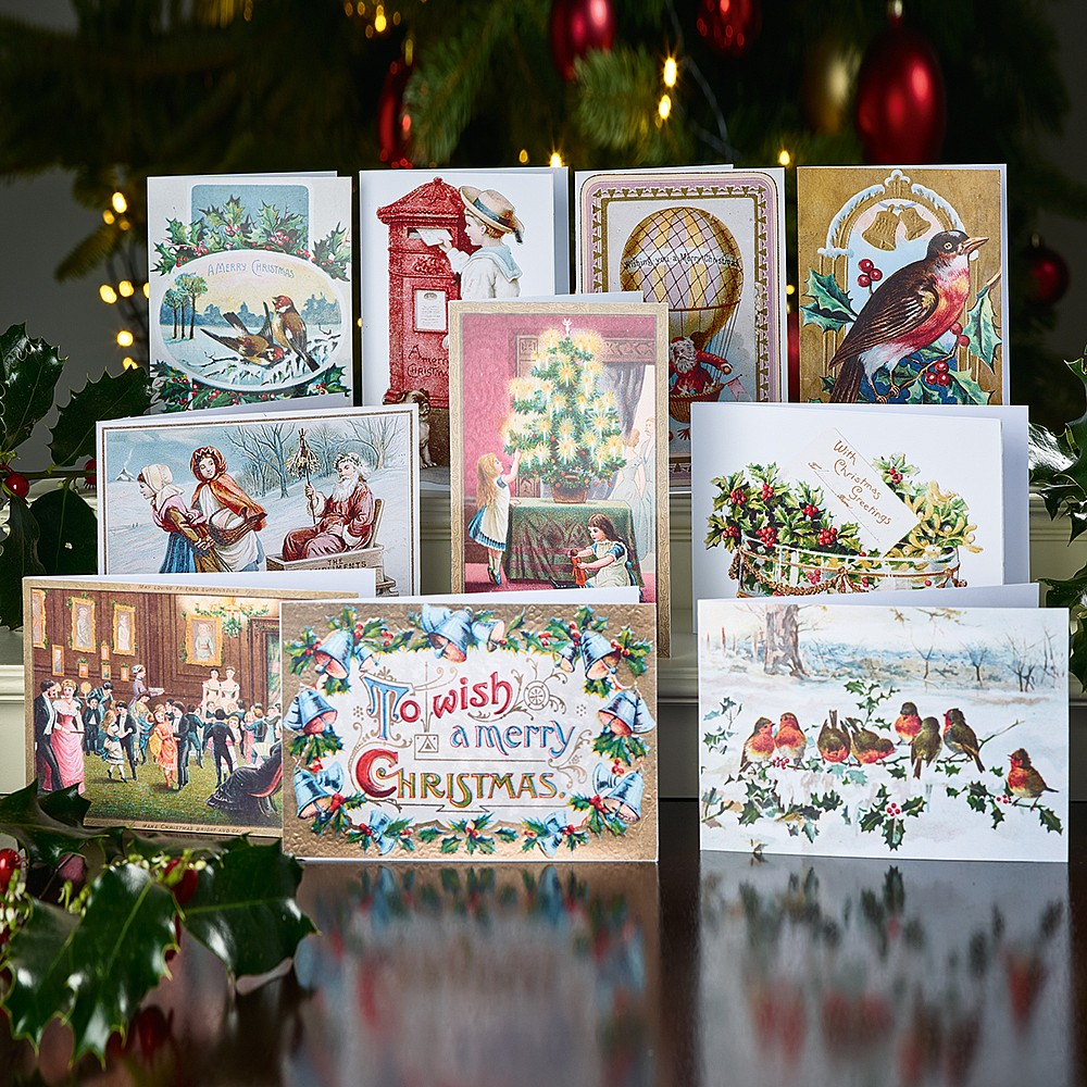 Victorian Christmas Tree.30 Victorian Christmas Cards