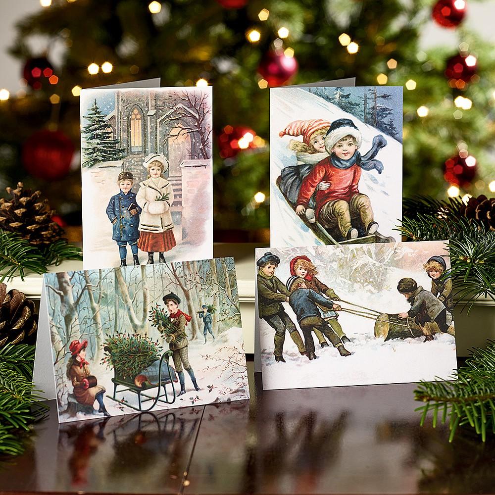 Snowy Christmas.20 Snowy Fun Christmas Cards