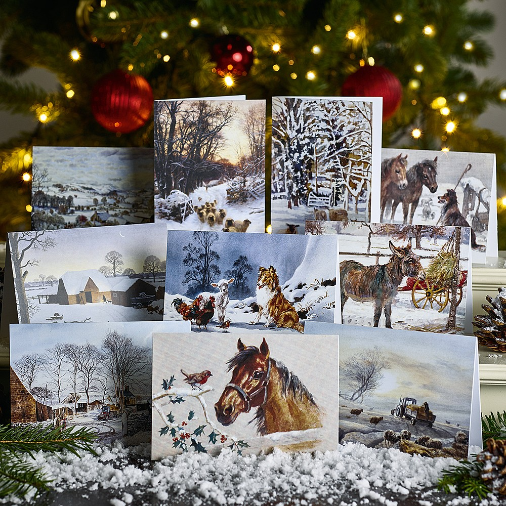40 Farming Country Christmas Cards