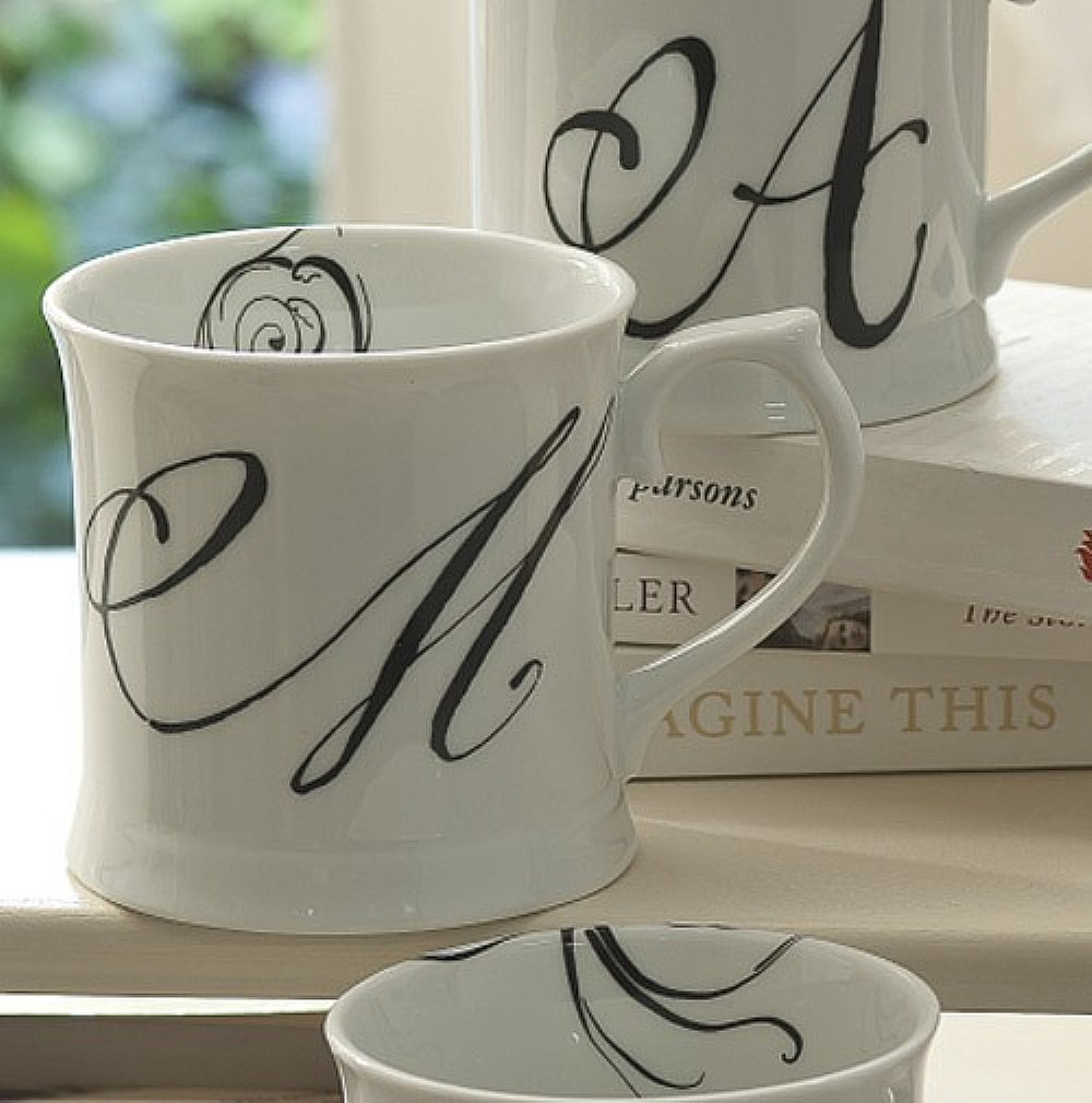 Image of Calligraphy Initial Mug