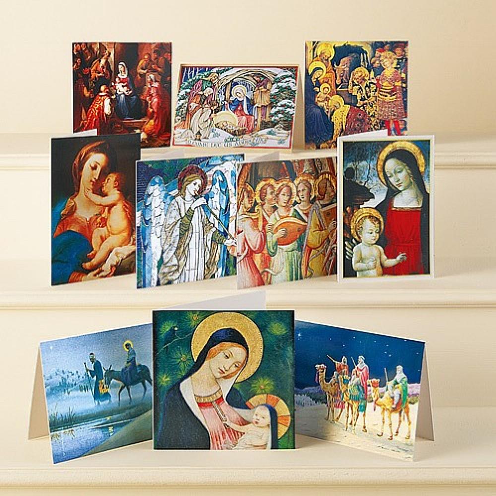Religious Christmas Cards Uk.40 Religious Art Christmas Cards