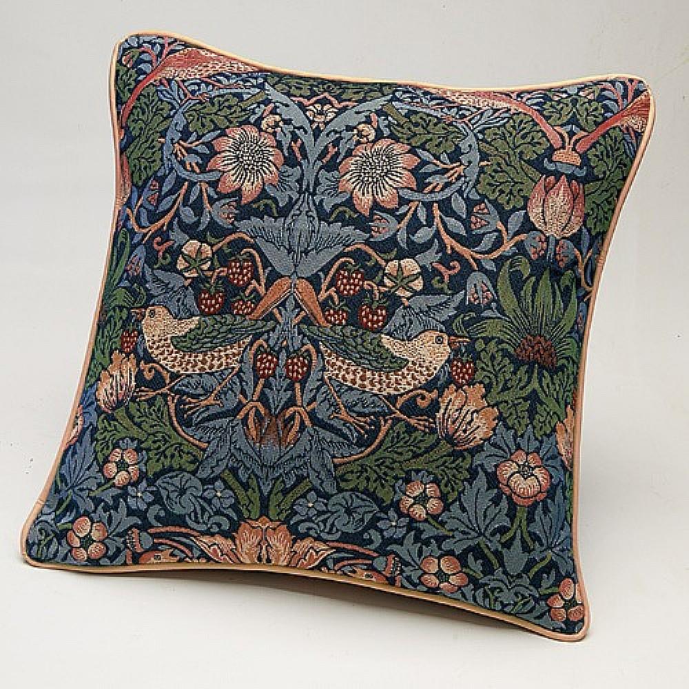 Image of Blue Strawberry Thief Cushion