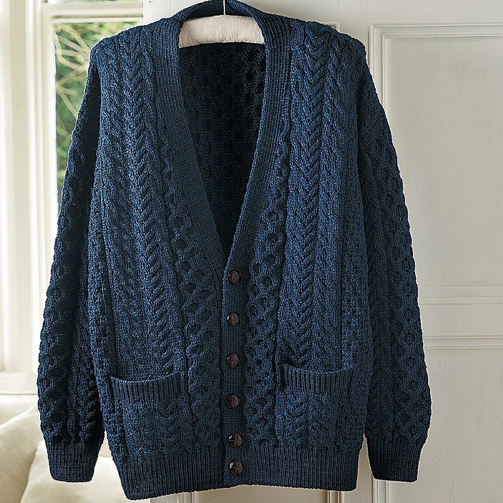 Aran Wool Cardigan