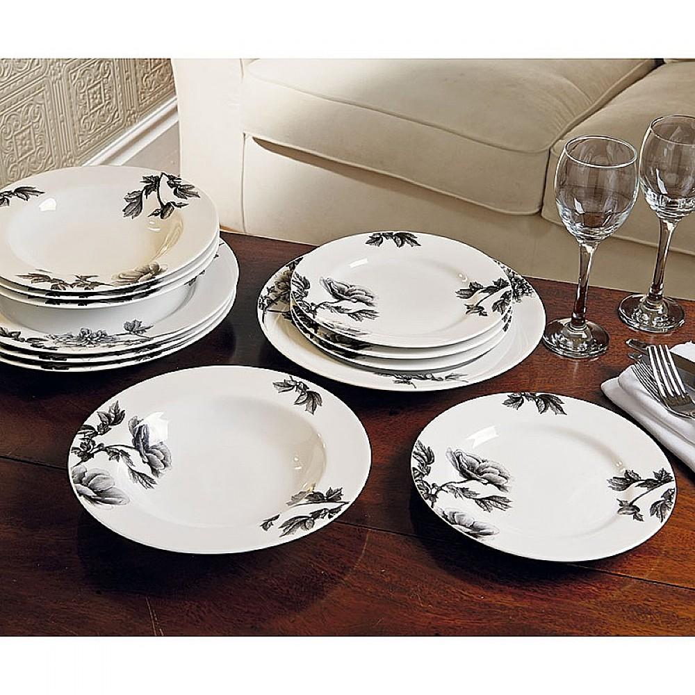 Image of 12 Piece Peony Dinner Set