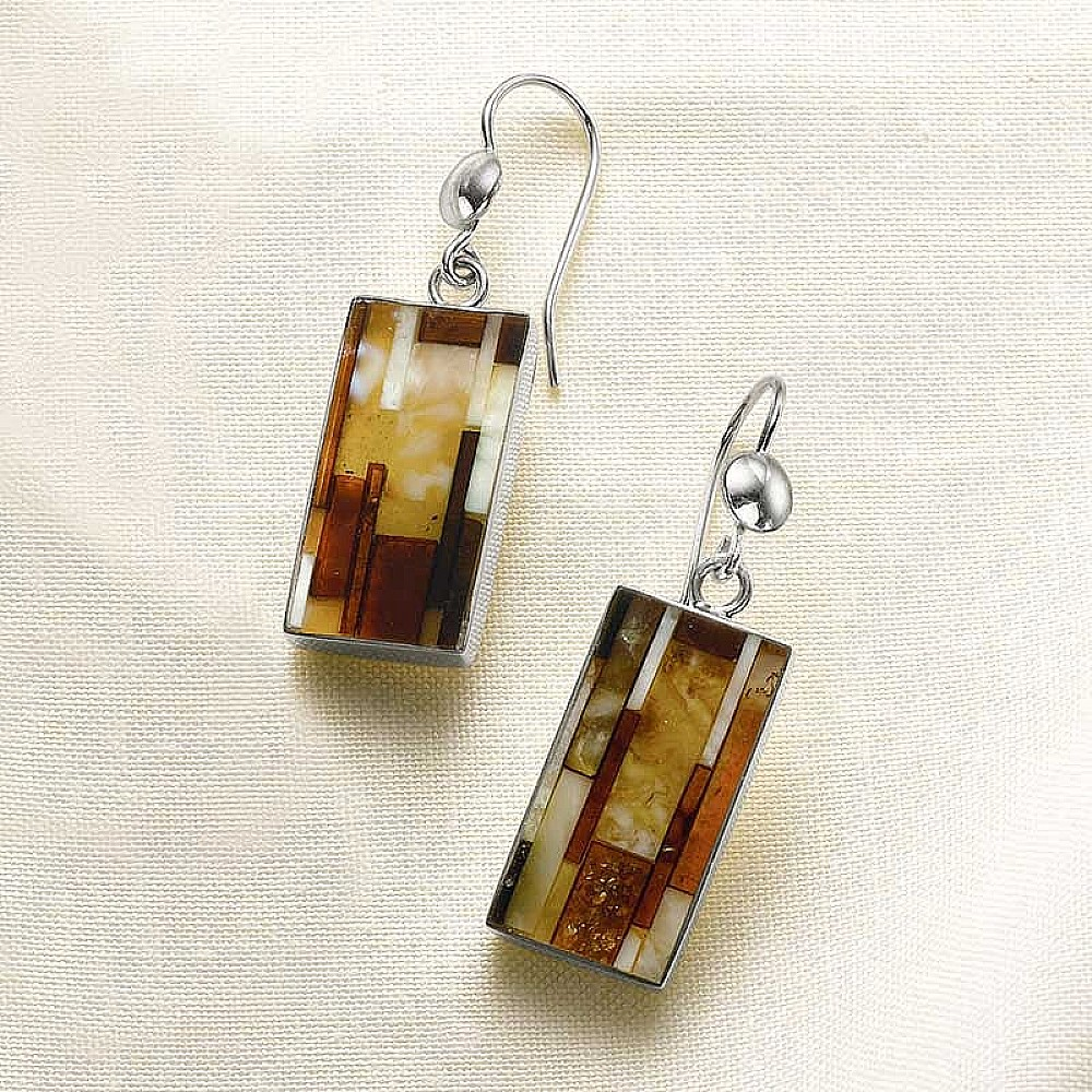 Mosaic Amber Earrings
