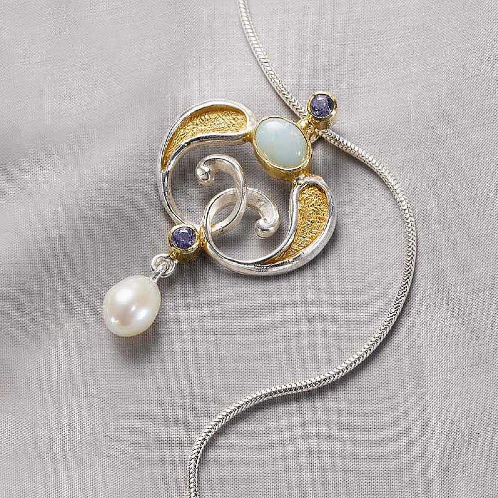 Stoclet Opal Pendant   Necklaces & Pendants   Museum Selection