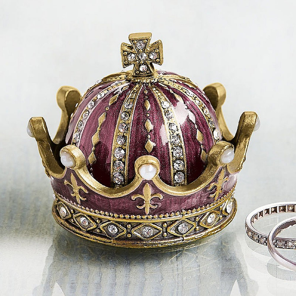 Image of Enamelled Crown Box