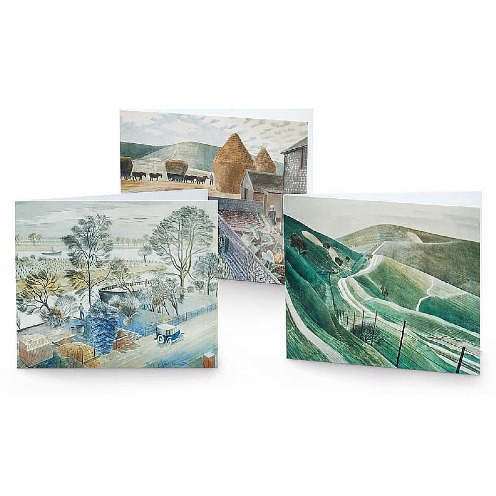 18 Ravilious Landscape Cards