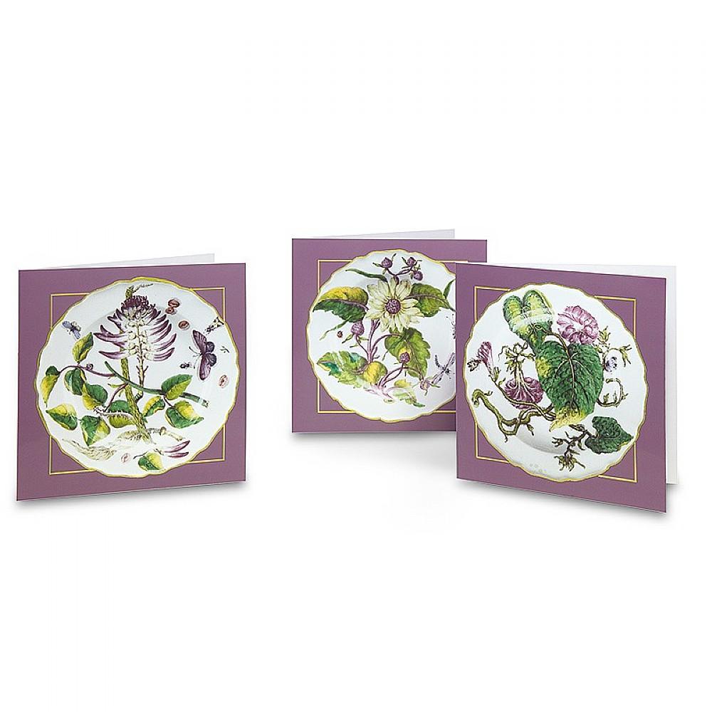 Image of 12 Chelsea Porcelain Plates Cards