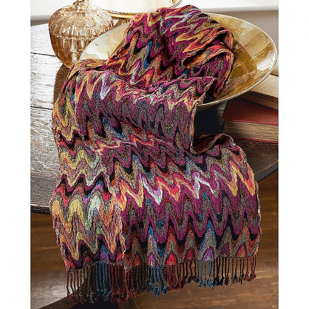 Bargello Multicolour Scarf Scarves Hats Gloves Museum Selection