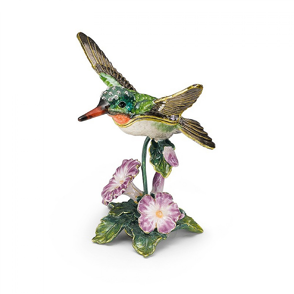 Image of Enamel Hummingbird Box