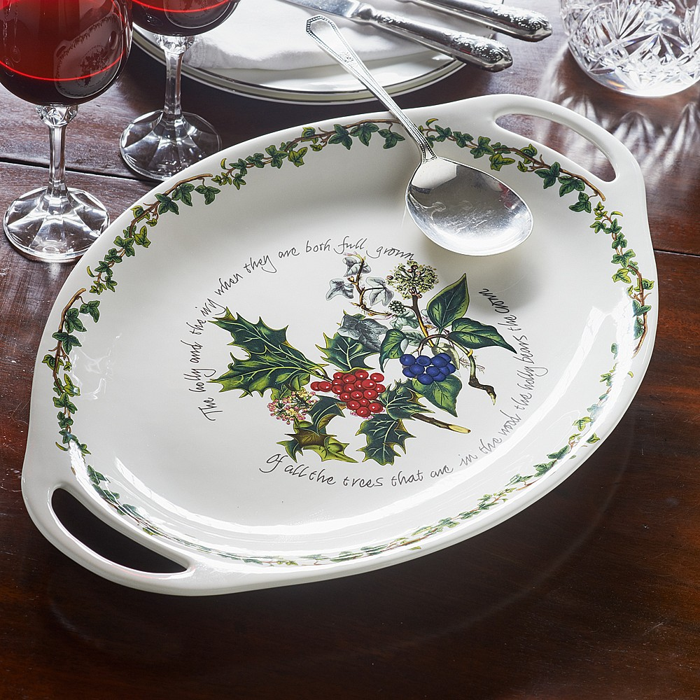 Holly & Ivy Oval Platter
