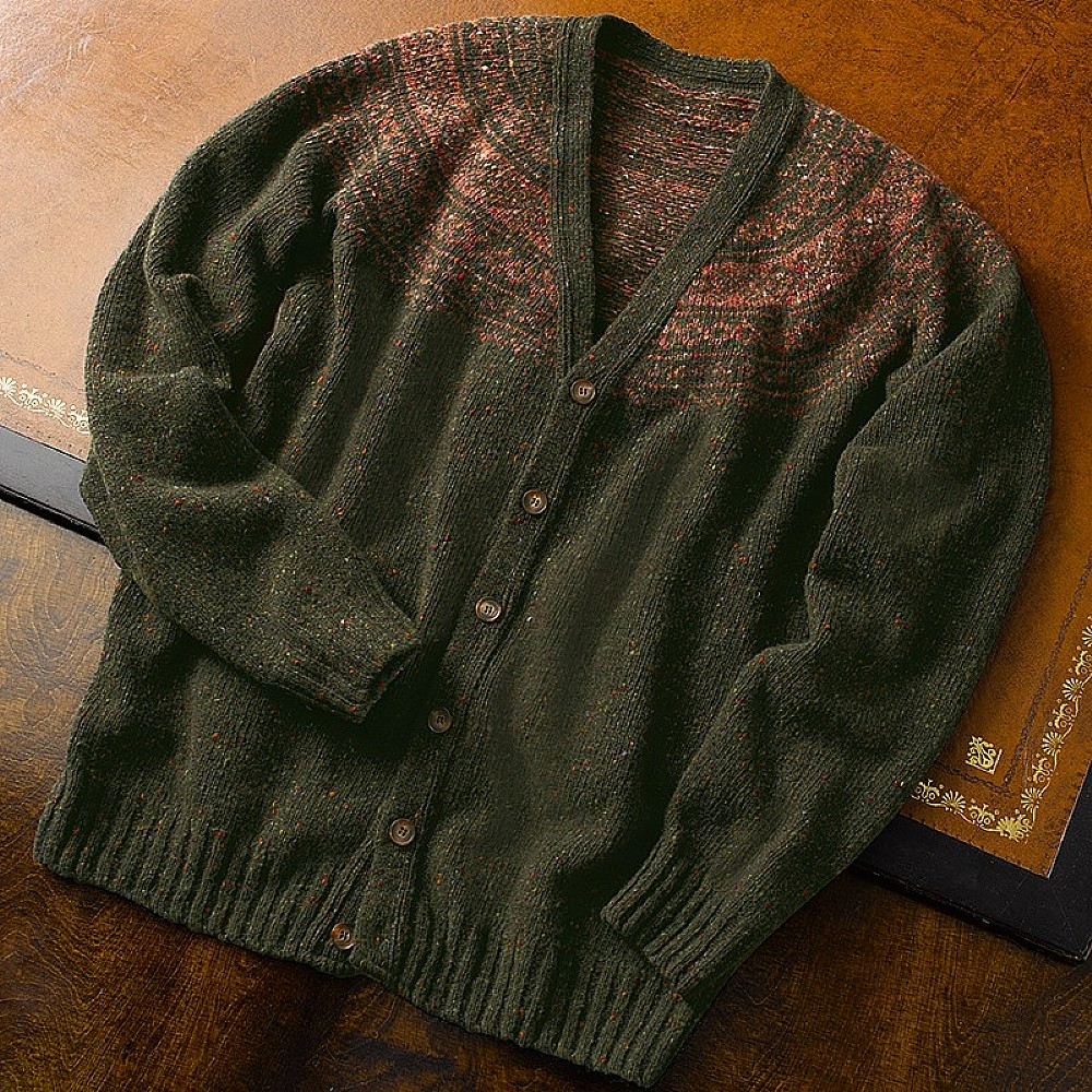 Buy Forbes Fair Isle Merino Cardigan from Museum Selection.