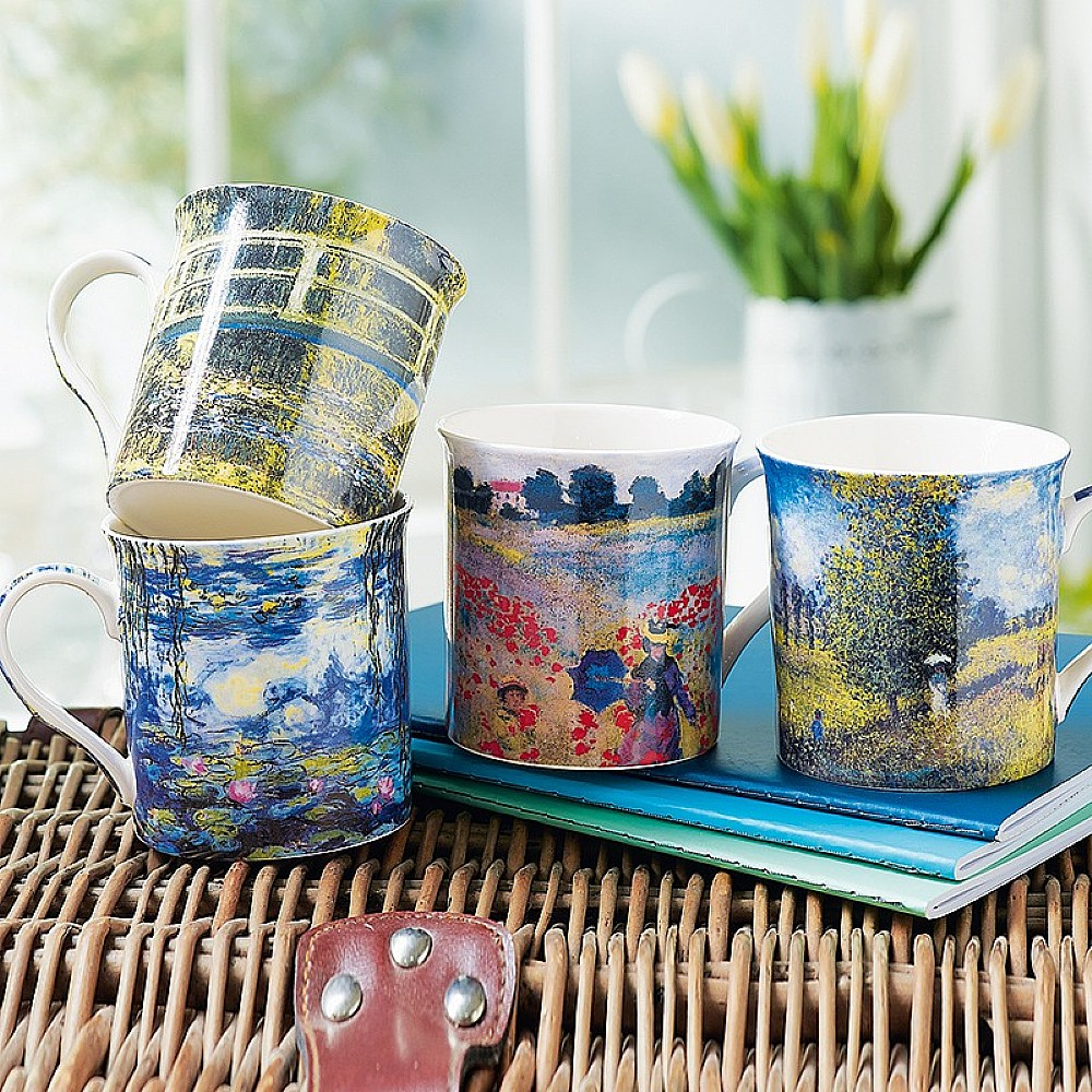 Set of 4 Monet Mugs