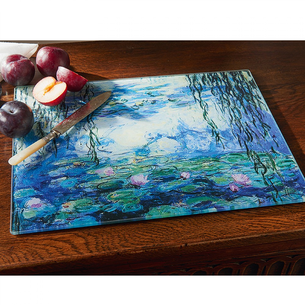 Water Lily Glass Chopping Board | Kitchen | Museum Selection