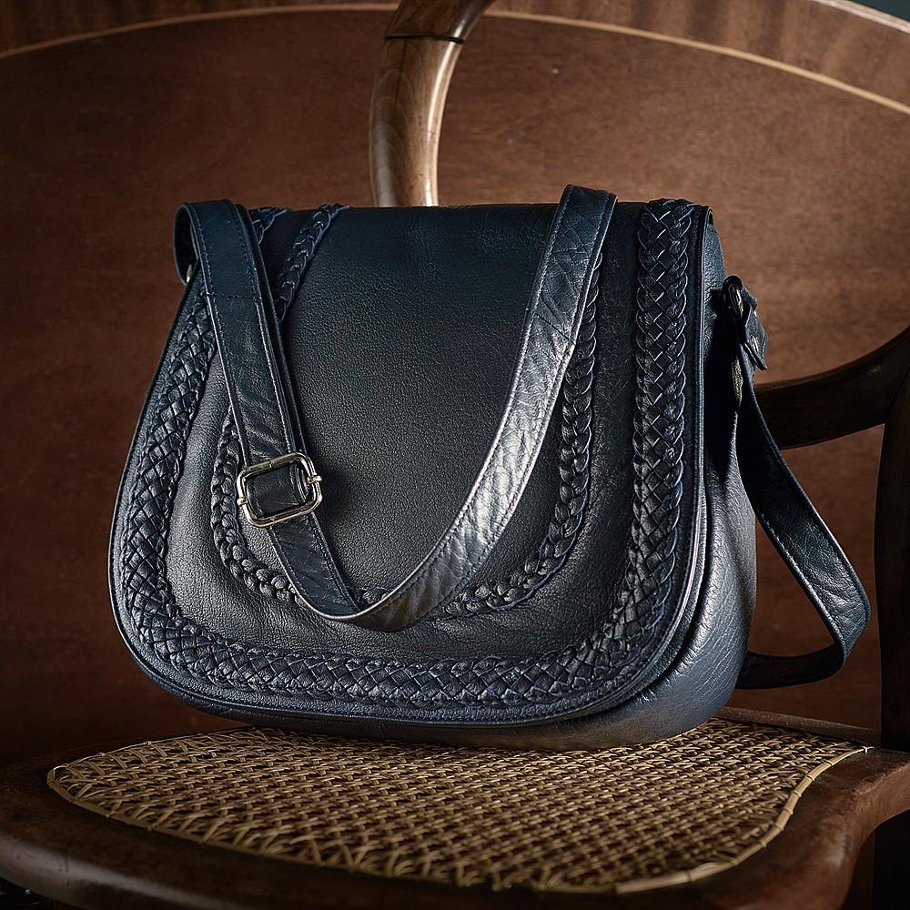 5ab58266a9 Plaited Leather Handbag