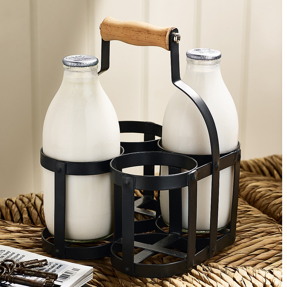 Farmhouse Milk Bottle Carrier