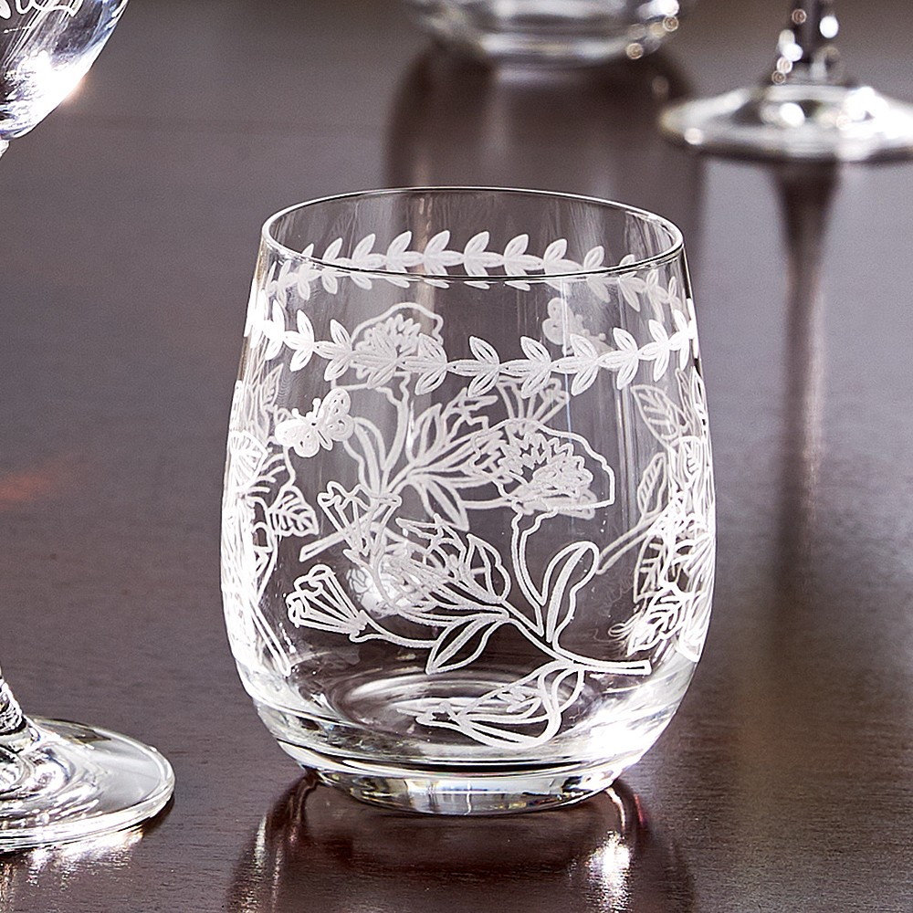 Set of 4 Botanical Glass Tumblers