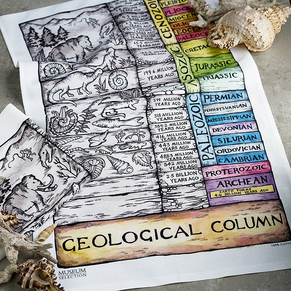 Pair of Geological Tea Towels