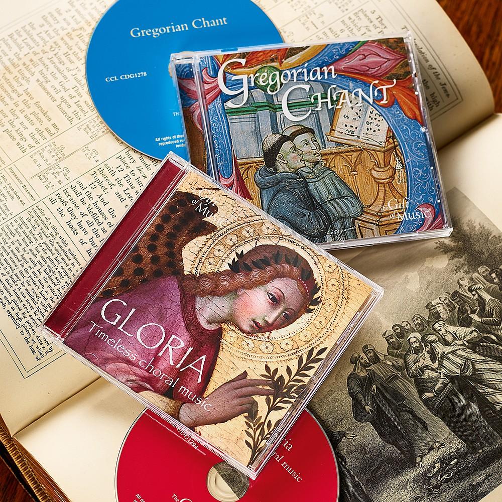 Set of 2 Choral & Gregorian Chant CDs
