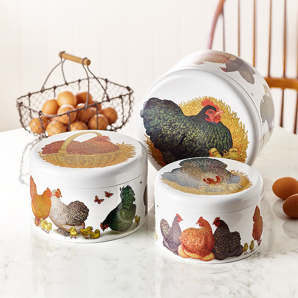 Set of 3 Nesting Chicken Tins