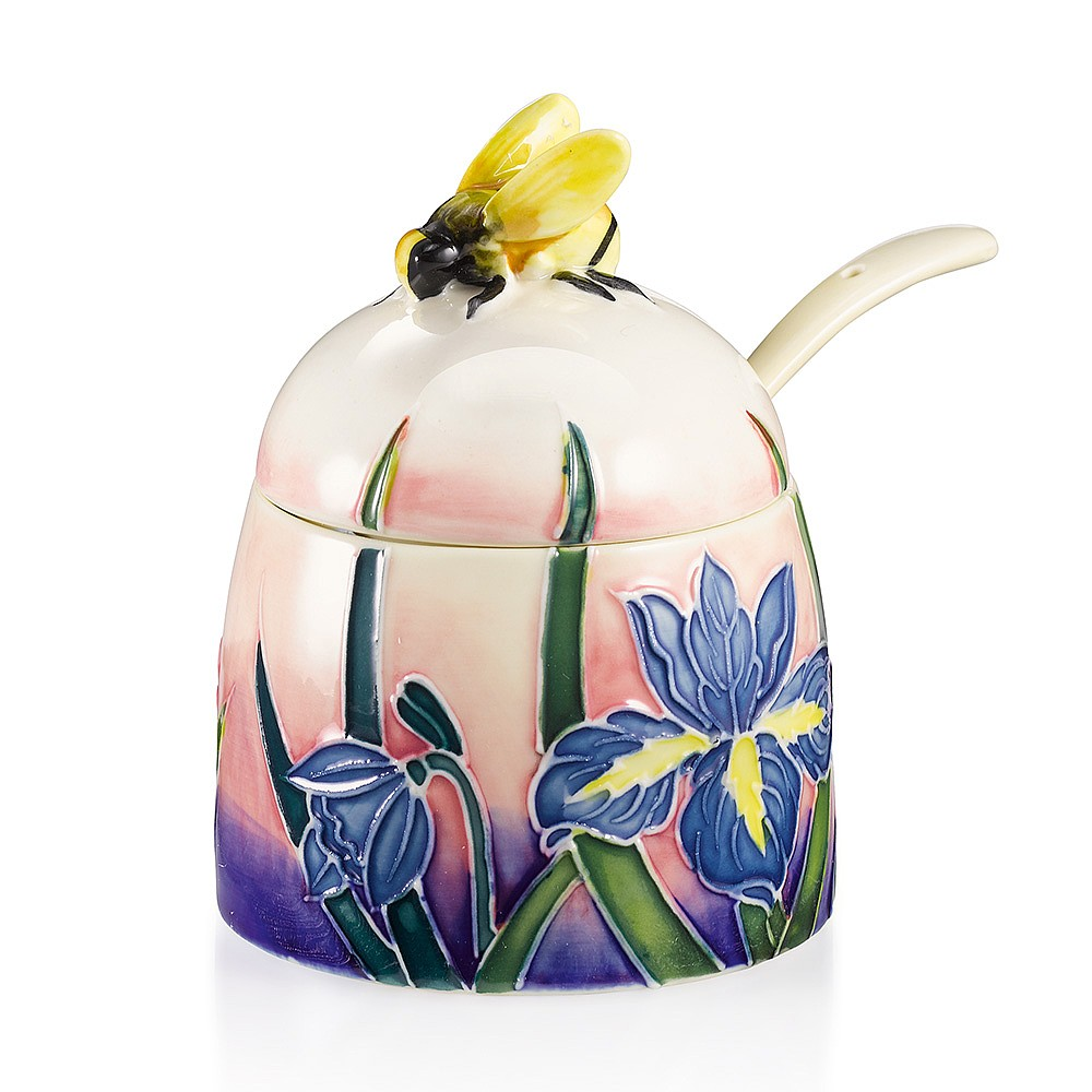 Blue Iris Honey Pot