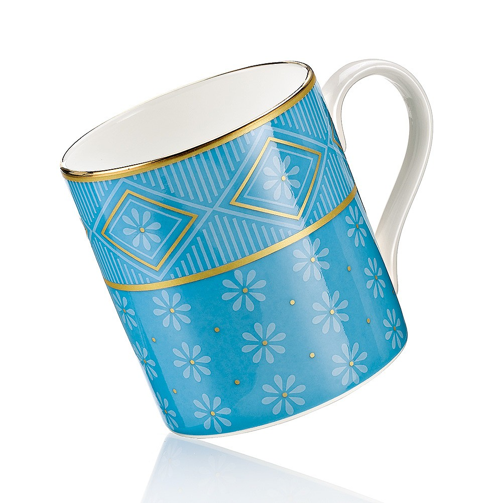 Blue Neoclassical China Mug