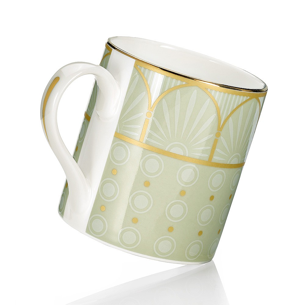 Green Neoclassical China Mug