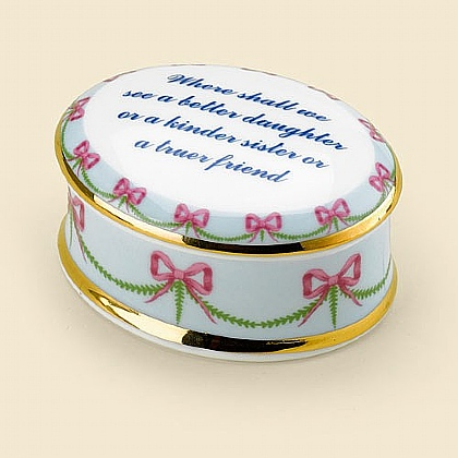 Museum Selection Jane Austen Oval Trinket Box