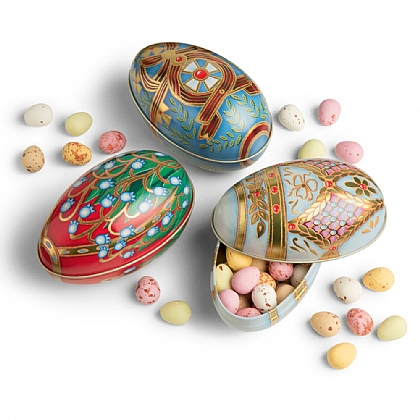 Chocolate Filled Imperial Egg Tins