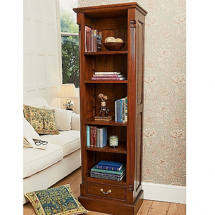 Museum Selection Mahogany Fluted Bookcase
