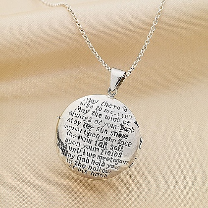 Irish Blessing Silver Locket