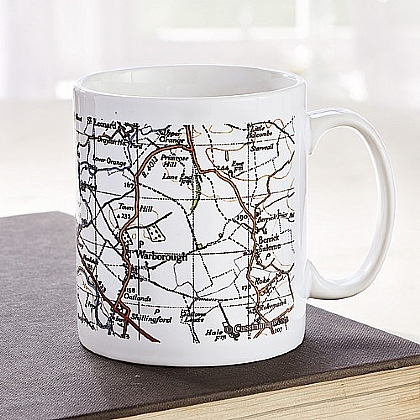 Museum Selection Personalised Map Mug