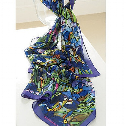 Museum Selection Irises Oblong Scarf