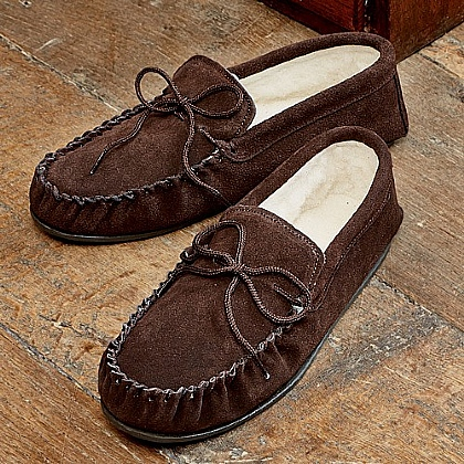 Museum Selection Suede Moccasin Slippers