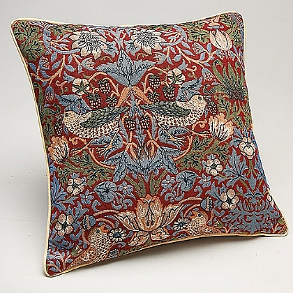 Museum Selection Red Strawberry Thief Cushion