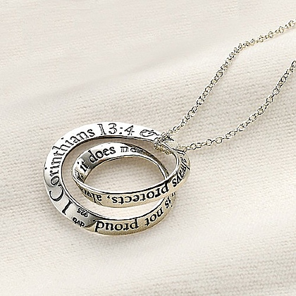 Love is Patient Silver Pendant