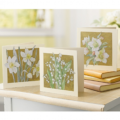 15 Luxury Finish Spring Flower Cards