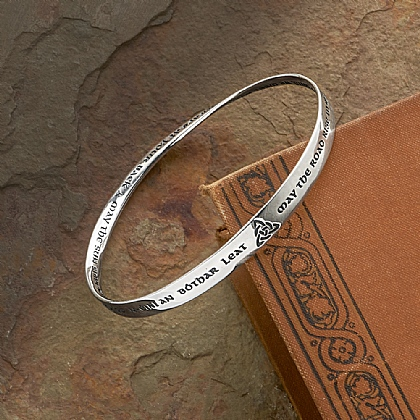 Museum Selection Celtic Blessing Silver Bangle